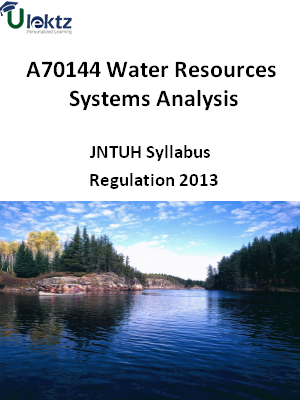 Water Resources Systems Analysis - Syllabus