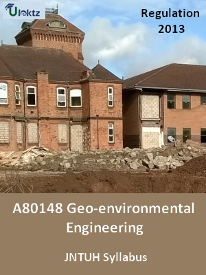 Geo-environmental Engineering - Syllabus