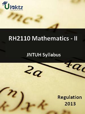 Mathematics - II - Syllabus
