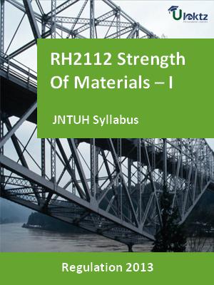 Strength Of Materials – I - Syllabus
