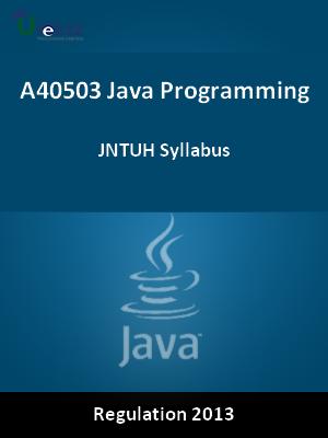 Java Programming - Syllabus