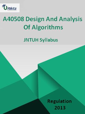 Design And Analysis Of Algorithms - Syllabus