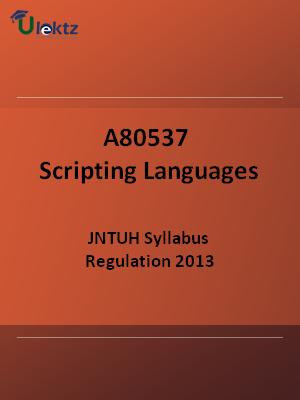 Scripting Languages - Syllabus
