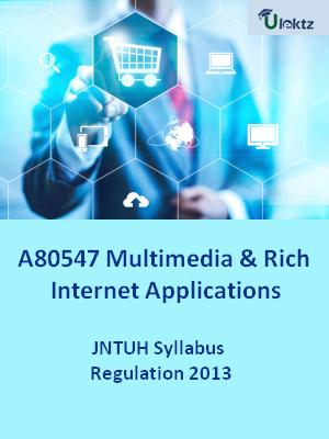 Multimedia & Rich Internet Applications - Syllabus