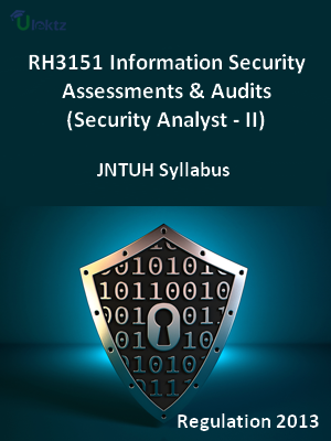 Information Security Assessments & Audits (Security Analyst - II) - Syllabus