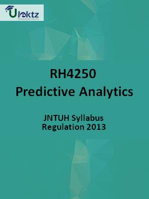 Predictive Analytics - Syllabus