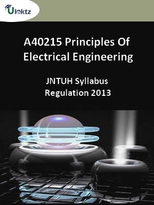 Principles Of Electrical Engineering - Syllabus