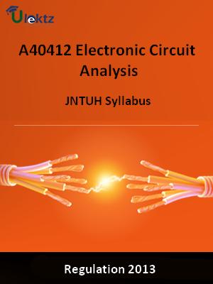 Electronic Circuit Analysis - Syllabus