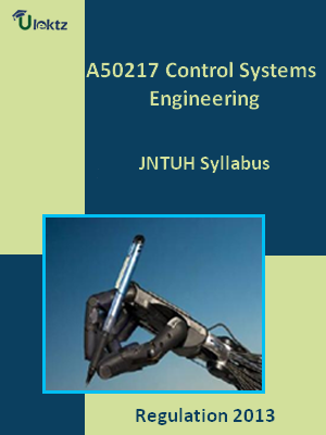 Control Systems Engineering - Syllabus