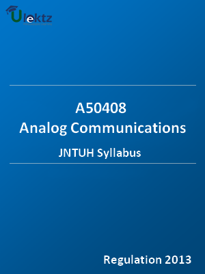 Analog Communications - Syllabus