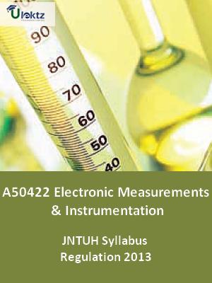 Electronic Measurements And Instrumentation - Syllabus
