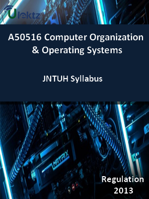 Computer Organization And Operating Systems - Syllabus