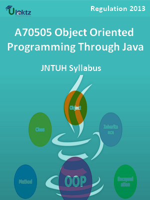 Object Oriented Programming Through Java - Syllabus