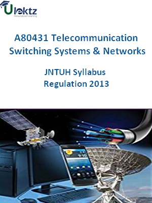 Telecommunication Switching Systems And Networks - Syllabus