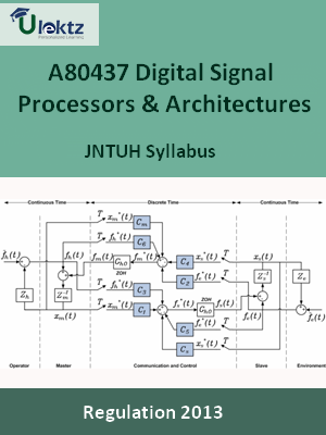 Digital Signal Processors And Architectures - Syllabus