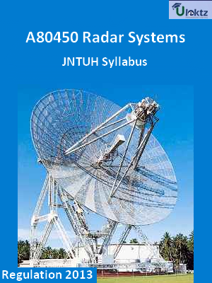 Radar Systems - Syllabus