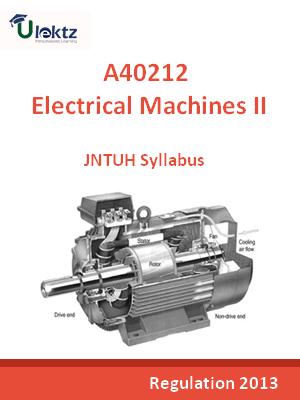 Electrical Machines - II - Syllabus