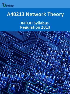 Network Theory - Syllabus