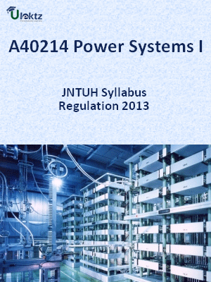 Power Systems - I - Syllabus