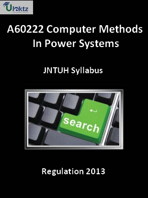 Computer Methods In Power Systems - Syllabus
