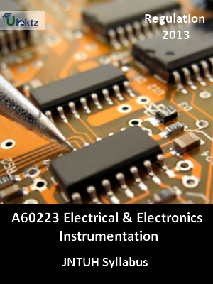 Electrical And Electronics Instrumentation  - Syllabus