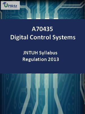Digital Control Systems - Syllabus