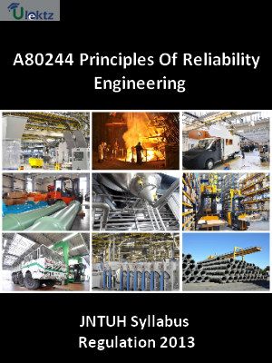 Principles Of Reliability Engineering - Syllabus