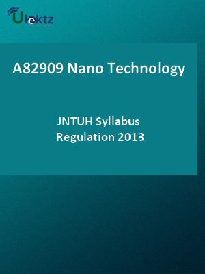 Nano Technology - Syllabus