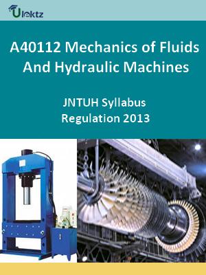 Mechanics of Fluids And Hydraulic Machines - Syllabus