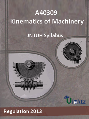 Kinematics of Machinery - Syllabus