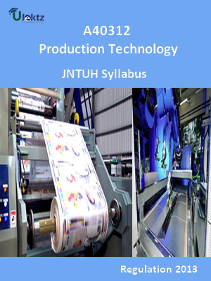 Production Technology - Syllabus