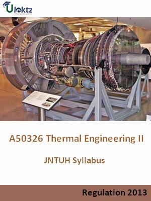 Thermal Engineering - II - Syllabus