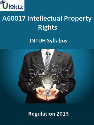 Intellectual Property Rights  - Syllabus