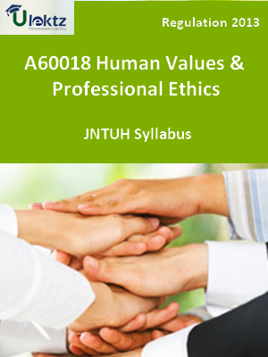 Human Values And Professional Ethics - Syllabus