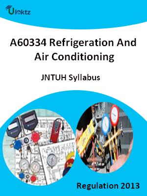 Refrigeration And Air Conditioning - Syllabus