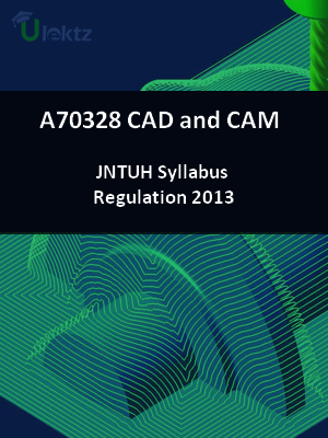 CAD and CAM - Syllabus