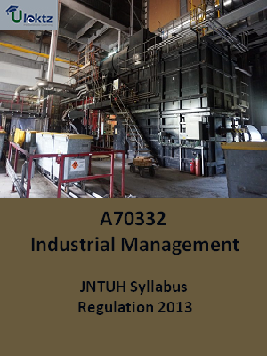 Industrial Management - Syllabus