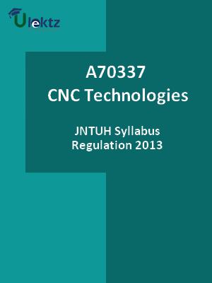 CNC Technologies - Syllabus
