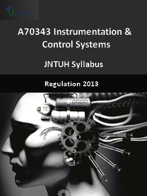 Instrumentation And Control Systems - Syllabus