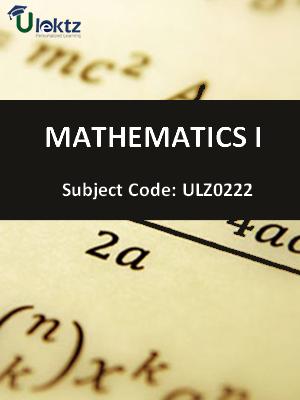 Mathematics - I (Vector Differential Calculus, Vector Integral Calculus)