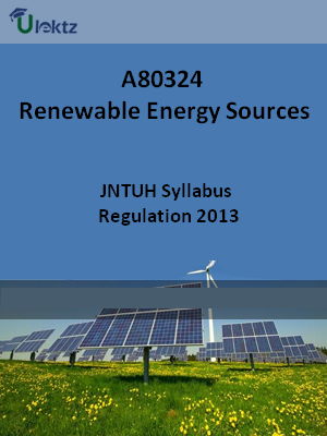 Renewable Energy Sources - Syllabus