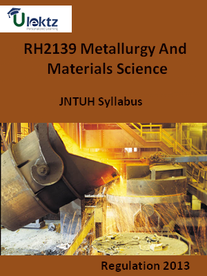Metallurgy And Materials Science - Syllabus