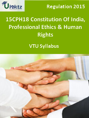 Constitution Of India, Professional Ethics & Human Rights - Syllabus