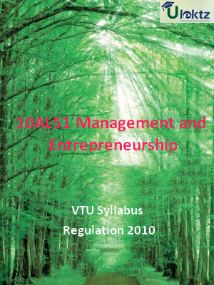 Management and Entrepreneurship - Syllabus