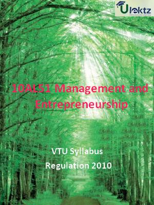 Management and Entrepreneurship - Syllabus