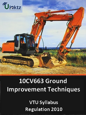 Ground Improvement Techniques  - Syllabus