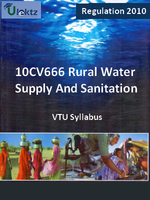 Rural Water Supply And Sanitation - Syllabus