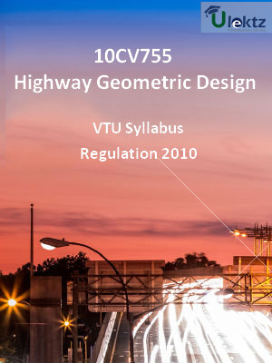 Highway Geometric Design - Syllabus