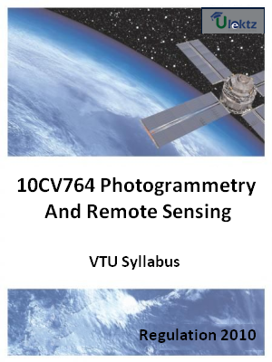 Photogrammetry And Remote Sensing - Syllabus