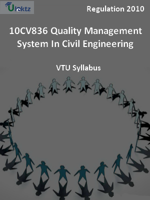 Quality Management System In Civil Engineering - Syllabus